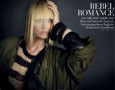 Rebel Romance | Carolyn Murphy | Daniele & Iango #photography | Vogue Germany December 2012