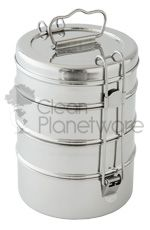 4-Layer Meal Container - Clean Planetware Stainless Steel Lunch Boxes. Eco-friendly sustainable lunch idea.