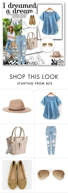 """SheIn 10/VI"" by nermina-okanovic ❤ liked on Polyvore featuring Ace of Something, Topshop, Ray-Ban and shein"
