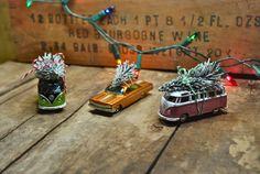 Vintage Toy Car & Christmas Tree