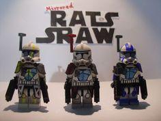 Lego Star Wars minifigures - Clone Custom Troopers -ARC Comdr Blitz, Colt, Havoc