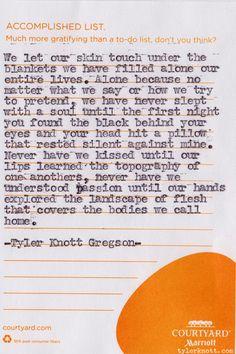 tylerknott:  Typewriter Series #110 by Tyler Knott Gregson