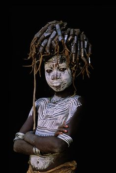 Africa | Mursi child.  Omo Valley, Ethiopia  | © Patrick de Wilde