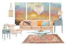 """""""Senza titolo #6120"""" by waikiki24 on Polyvore featuring interior, interiors, interior design, Casa, home decor, interior decorating, Baseline, Safavieh, Tempaper e Pillow Decor"""