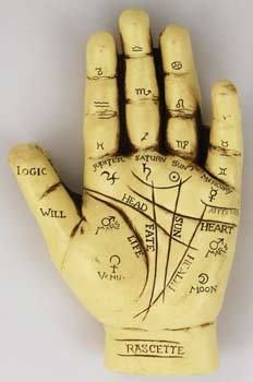 Palmistry Hand Palm Reading Model Gypsy Fortune Teller Divination Wiccan Pagan