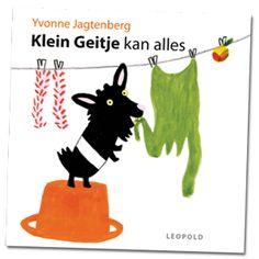 Prentenboeken TopTien 2017. Klein Geitje is het kleinste geitje van allemaal. Maar dat maakt niks uit, want Klein Geitje kan alles al. Klimmen, bijten, blèren, eten… Een kleine geit in de grote wereld. Net zo eigenwijs als een peuter!