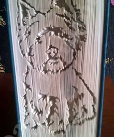 Cut and Fold Westie in a book. NEED.