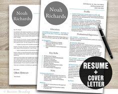 Modern Resume Template Design  Instant by BusinessBranding on Etsy, $15.00