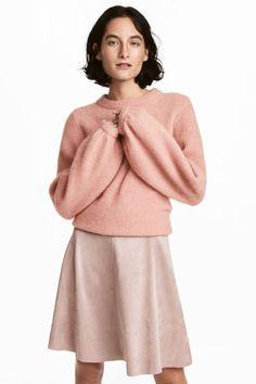 Юбка длиной до колена - Розовая пудра - Женщины | H&M RU 1