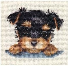 YORKSHIRE TERRIER PUPPY, Dog ~ Full counted cross stitch kit + All materials | eBay #yorkshireterrier