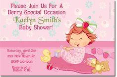 Baby Strawberry Shortcake Baby Shower Invitations | uprintinvitations - Cards on ArtFire