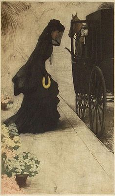 Funeral Artwork- The Widow (1906)