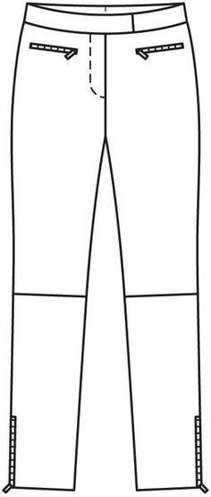 Брюки - выкройка № 124 из журнала 12/2012 Burda – выкройки брюк на Burdastyle.ru