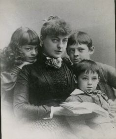 Ethel, Lionel, and John with their mother.