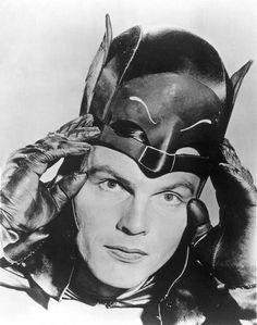 "Adam West in ""Batman."" (Related Press) June 23 at PM Relating to the June 11 obituary for Adam West, ""Actor renowned for his role as Batman"": I had th Adam West Batman, Batman 1966, I Am Batman, Batman Robin, Batman Mask, Batman Cowl, Batman Stuff, Salvador Dali, Catwoman"