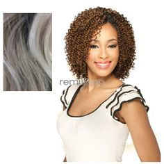 Wed Jan 6, 2016 - #6: Milky Way Que Jerry Curl Short 3PCS - Color OTSILVERG - Blend Weaving