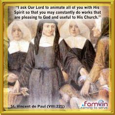 St Vincent Depaul, Elizabeth Ann Seton, Daily Quotes, Quotations, Reflection, Random Stuff, Daily Qoutes, Qoutes, Quotes