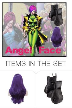 """""""Angel Face"""" by wannabefamous212 ❤ liked on Polyvore featuring art, marvel, villains and AngelFace"""