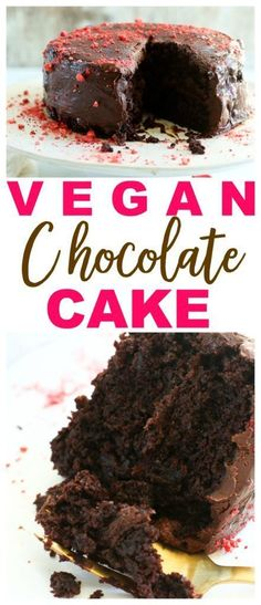THE BEST Vegan chocolate cake recipe you will ever try ! # Dessert THE BEST Vegan chocolate cake recipe you will ever try ! Vegan Chocolate Cake Recipe Moist, Chocolate Cake From Scratch, Best Vegan Chocolate, Dessert Chocolate, Gourmet Recipes, Cake Recipes, Dessert Recipes, Vegetarian Recipes, Vegetarian Cooking