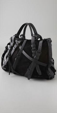 Straps - black purse