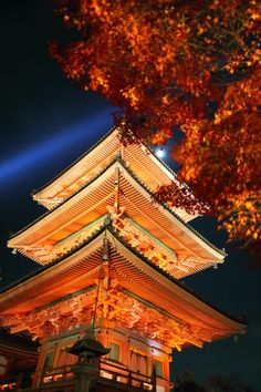 The light of the moon, the light of mercy (and the promotional spotlight), Kiyomizu-dera, Kyoto, Japan.