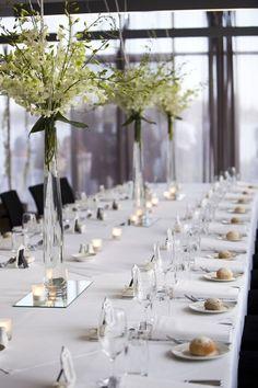 Gorgeous long tables transform the Lake Room (Image courtesy of Enhance Studios)