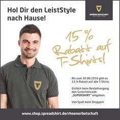 Sommerendspurt – Bis 30.08.2016 erhaltet Ihr 15 % auf unsere T-Shirts unter http://shop.spreadshirt.de/rhoenerbotschaft/