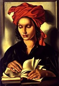 Tamara de Lempicka - woman reading