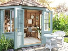 Shop for Garden & Conservatory from our Home & Garden range at John Lewis & Partners. Backyard Studio, Backyard Sheds, Garden Studio, Backyard Garden Design, Small Summer House, Summer House Garden, Home And Garden, Summer Houses, Small Garden Cabin