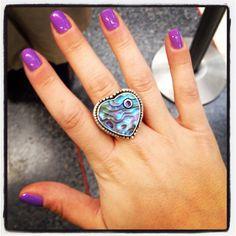Purple nails + purple ring