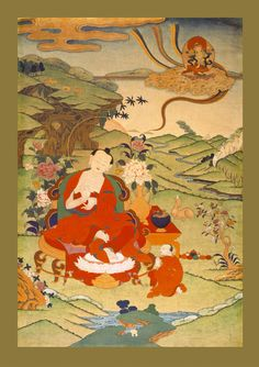 Nagarjuna (b.150 - d.250?) - Holder of the tradition of the Explicit Aspect - Profound Emptiness. Nagarjuna wrote the main commentaries of the Buddha's Teachings of the 2nd Turning of the Wheel of Dharma, focusing on the Emptiness aspect