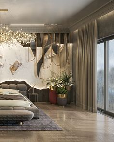 Modern Luxury Bedroom, Master Bedroom Interior, Luxury Bedroom Design, Bedroom Bed Design, Home Room Design, Luxury Home Decor, Luxurious Bedrooms, Luxury Interior, Living Room Designs