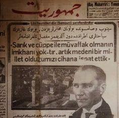 Kemal Atatürk 21.03.1923'de Konya'da Hilâliahmer kadınlar şubesinin tertip ettiği bir çay ziyafetindeki konuşmasında: Kıyafetlerinde A...