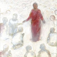 Christ Among The Spirits - Artist J Kirk Richards Jesus Christ Painting, Jesus Art, Easter Show, Lds Art, Biblical Art, Christian Art, Christian Paintings, Sacred Art, Illustrations