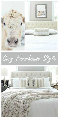 Beautiful cozy farmhouse style at http://refreshrestyle.com
