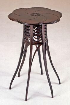 What a cool table... Arts & Crafts Tea Table / Charles Edward Horton / circa 1887 / Wolfsonian FIU