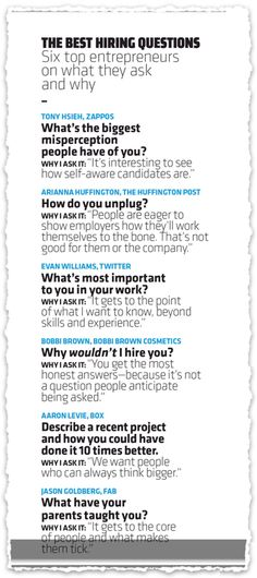 Great interview questions.