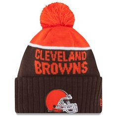 db5ea996b1b New Era 2015 On Field Sport Knit Cleveland Browns Beanie (Brown Orange) Hat  Cap  Worn on sideline Made by New Era acrylic with dri-release Embroidered  ...