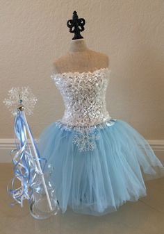 Frozen Costume Elsa Costume Frozen Dress Elsa by partiesandfun