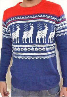 Christmas Jumper Sweater Xmas Knitted Size S M L NEW RR£55 from Clothes-express