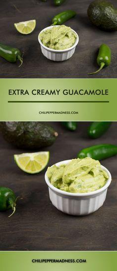 Extra Creamy Guacamole with Roasted Jalapenos