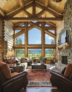 I want a window like this overlooking the beautiful landscape that goes for miles and miles