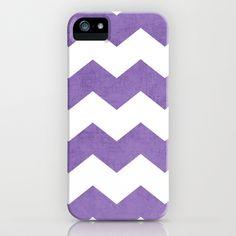 chevron - purple iPhone & iPod Case by her art
