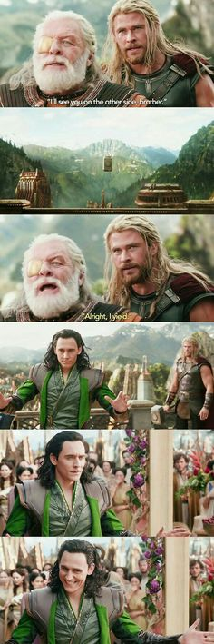 I love how I assumed marvel would have some epic reveal once Thor realized it was Loki n the throne the while time and whatnot, and then we got this. I gotta say though, I'm not displeased. Marvel Comics, Loki Thor, Marvel Heroes, Marvel Avengers, Loki Laufeyson, Funny Marvel Memes, Dc Memes, Marvel Jokes, Avengers Memes