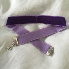 Purple Velvet Choker