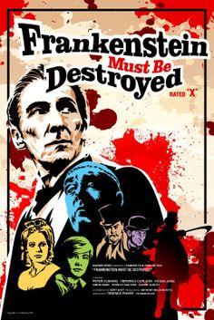 House of Hammer  Frankenstein Must Be Destroyed  18 by DadManCult, $12.99