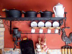 Panelas de ferro!Para decorar a cozinha ou usar no fogão á lenha!!