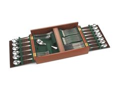 ROBERT WELCH: A  cased silver table service of flatware and cutlery