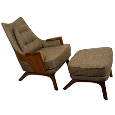 Midcentury Adrian Pearsall Lounge Chair with Ottoman | From a unique collection of antique and modern chairs at https://www.1stdibs.com/furniture/seating/chairs/