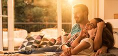 Young happy family spending their time together at home, while little. Keitel Haus, Living Haus, Google Voice, Smart Lights, Outdoor Camera, Living Room Photos, Rooms Home Decor, Decor Room, Home Safes
